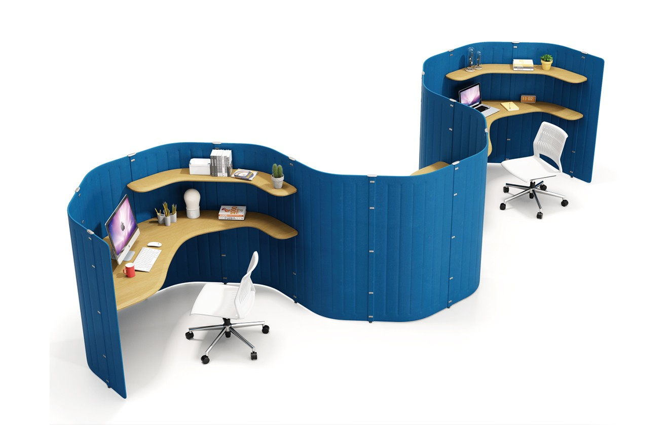 Hyle Acoustic Panel Workstations