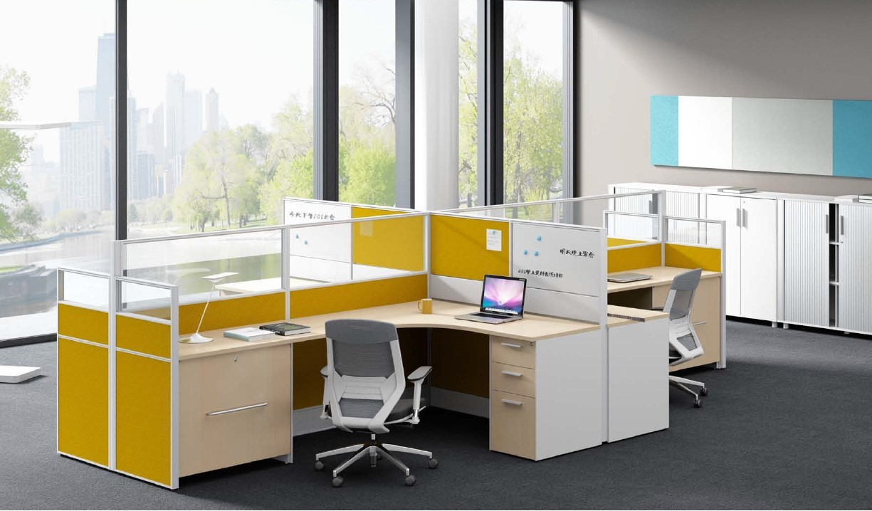 Workstations with Acrylic Glass Partitions Office Furniture Cubicle2.0