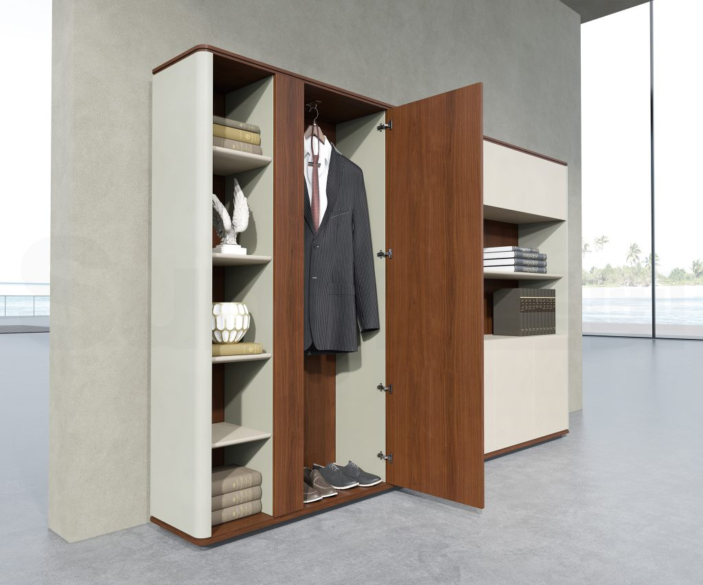 Office Storage Veneer Wood Cabinets