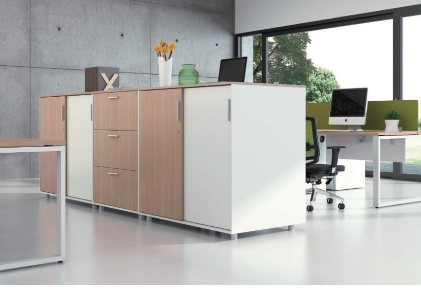 Office Storage Wood Laminate Cabinets